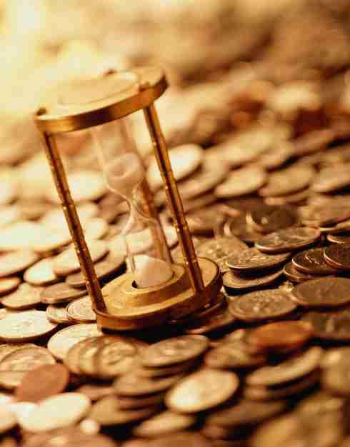 dinero, bancos, tiempo